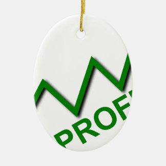 Profit Curve Ceramic Ornament