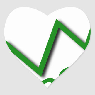 Profit Curve Heart Sticker
