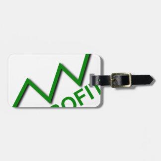 Profit Curve Luggage Tag