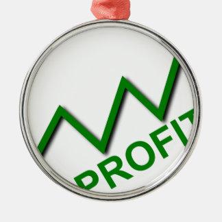 Profit Curve Metal Ornament