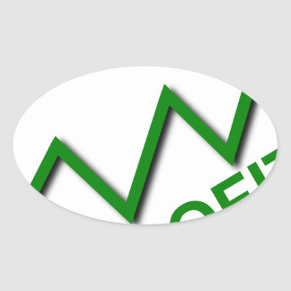 Profit Curve Oval Sticker