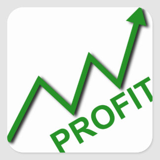 Profit Curve Square Sticker