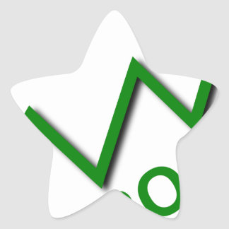 Profit Curve Star Sticker