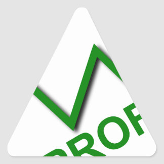 Profit Curve Triangle Sticker