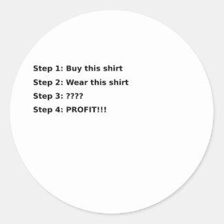 Profit Round Sticker