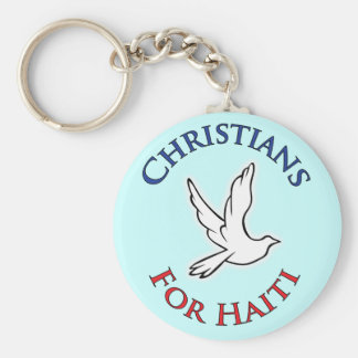 Profit to - Christians for Haiti Basic Round Button Keychain