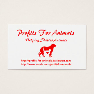 Profits For Animals Business Cards