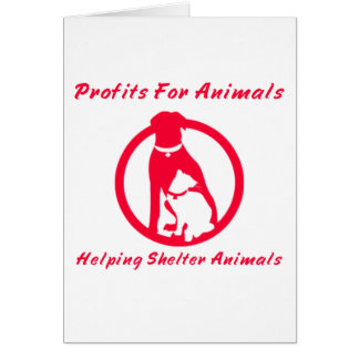 Profits For Animals Notecards Note Card