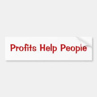 Profits Help People Bumper Sticker