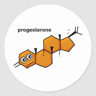 Progesterone Classic Round Sticker