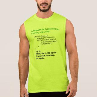 Program for Running, Programming and life. Sleeveless Shirt