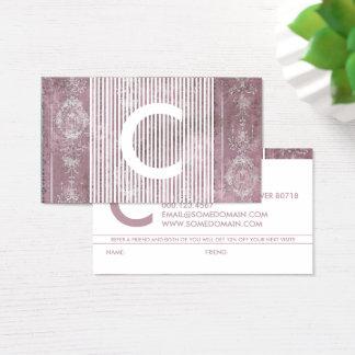 programme chic de référence de monogramme cartes de visite
