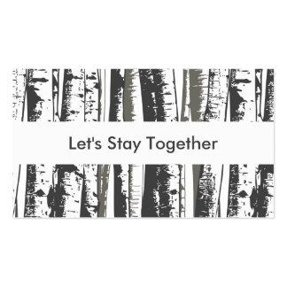 programme de fidélité d'arbres de tremble carte de visite standard