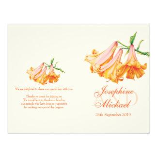 Programme de mariage de lis de cloche de lis grand prospectus 21,6 cm x 24,94 cm