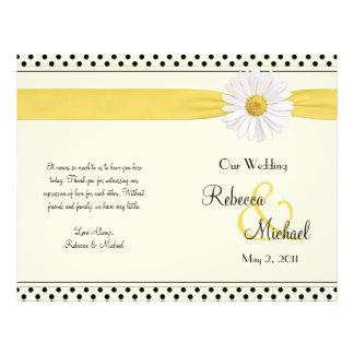 Programme de mariage de point de polka de margueri prospectus 21,6 cm x 24,94 cm