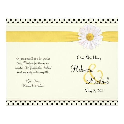 Programme de mariage de point de polka de margueri prospectus personnalisés