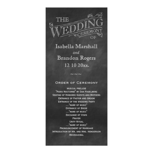 Programme de mariage de tableau modèle de carte double