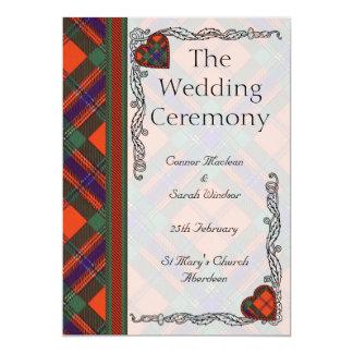 Programme écossais de mariage de tartan - Maclean Carton D'invitation 12,7 Cm X 17,78 Cm