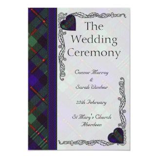 Programme écossais de mariage de tartan - Murray Carton D'invitation 12,7 Cm X 17,78 Cm