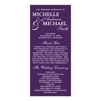 Programme élégant simple de mariage double carte personnalisée