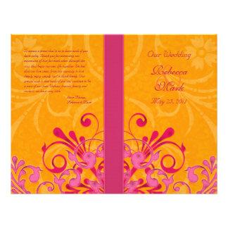 Programme floral abstrait de mariage de rose et d