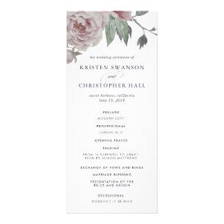 Programme floral de mariage de jardin anglais