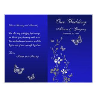Programme floral de mariage de papillon de gris bl