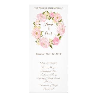 Programme floral romantique de monogramme de guirl carte double en  couleur