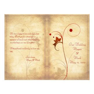 Programme personnalisable de mariage d automne
