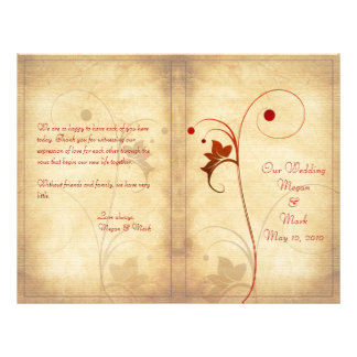 Programme personnalisable de mariage d'automne prospectus 21,6 cm x 24,94 cm