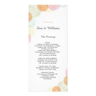 Programme romantique élégant de mariage carte double customisable