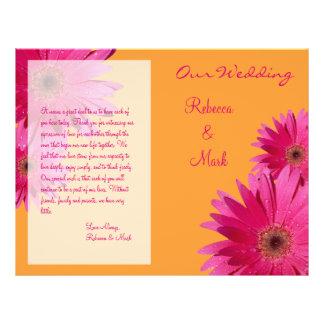Programme rose de mariage de marguerite de Gerbera