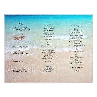 Programme tropical triple de mariage de plage en-tête de lettre customisable