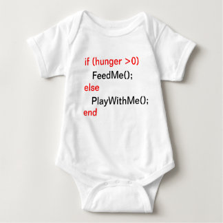 Programmer baby (FeedMe, PlayWithMe) Baby Bodysuit