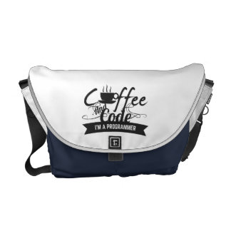 programmer bag-coffee and code courier bag