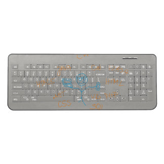 Programmer Custom Wireless Keyboard