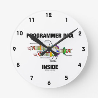 Programmer DNA Inside (DNA Replication) Round Clock