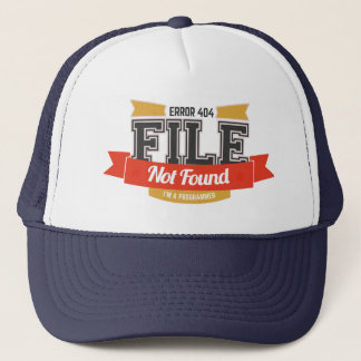 programmer hat: error 404 file not found trucker hat