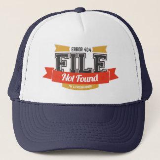 programmer hat: error 404 file not found trucker hat