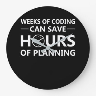 Programmer Weeks Coding Save Hours Planning Large Clock