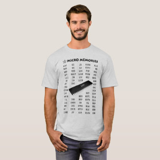 Programmer's T-Shirt with Z80 Chip and Mnemonics