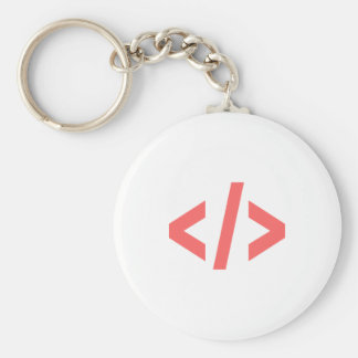 Programming Tag Basic Round Button Keychain