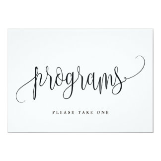 Programs Sign - Lovely Calligraphy