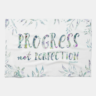 PROGRESS NOT PERFECTION Inspirational Quote Kitchen Towel