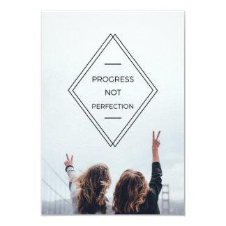 Progress Not Perfection Motto Invite