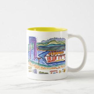 Progress on the Yangtze River Two-Tone Coffee Mug