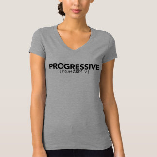 Progressive Definition - Womens T-Shirt - Grey