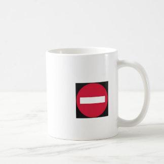 prohibited direction coffee mug