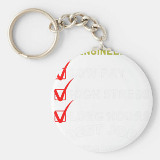 project engineer basic round button keychain