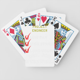 project engineer bicycle playing cards